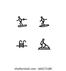 water sport set icon