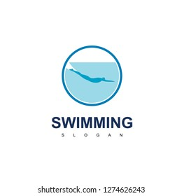 Water Sport, Swimming People Logo Design Inspiration