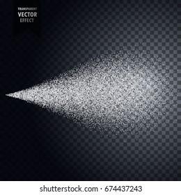 water spray mist from bottle. Transparent effect