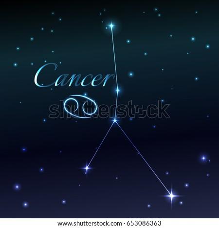 Water Symbol Cancer Zodiac Sign Horoscope Stock Vector Royalty Free