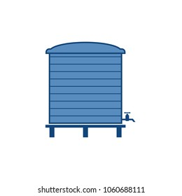 Water tank icon. Vector image isolated on white background