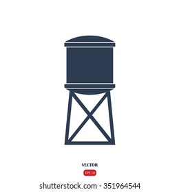 Water tank. Vector illustration