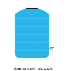 Water tank vector. tap. wallpaper. free space for text.
