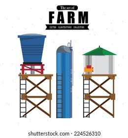 water tanks - vector illustration