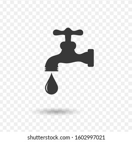 Water tap vector icon. Stock Vector illustration isolated on white background.