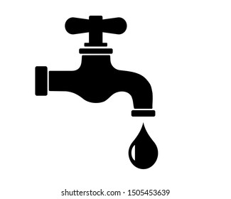 Water tap vector illustration icon.