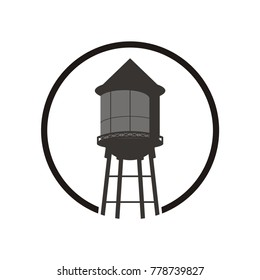 Water tower logo design template vector illustration