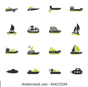 water transport web icons for user interface design
