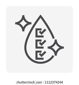 Water treatment and water filter icon, 48x48 pixel perfect and editable stroke.