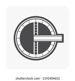 Water treatment tank icon for water treatment work.