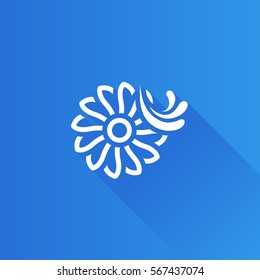 Water turbine icon in Metro user interface color style. Energy renewable environment