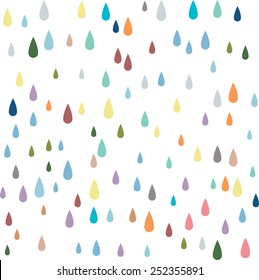 water Vector seamless pattern. paint drops Vector seamless pattern.raining Vector seamless pattern.