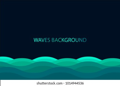 Water wave background , Blue color background