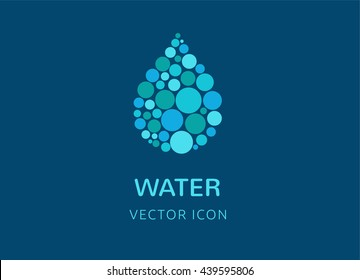water, wave and drop icon, symbols