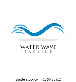 Water wave graphic design template vector illustration