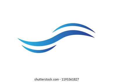 Water wave icon isolated on white background. Flat water wave icon for web site, backdrop and logo template. Useful for poster, placard and banner. Creative art concept, vector illustration, eps 10