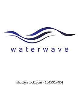 Water Wave Icon - Isolated On White Background. Vector Illustration Water Wave, Graphic Design. For Web, Websites, Print Material