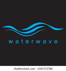 Water Wave Icon - Isolated On Black Background. Vector Illustration Water Wave, Graphic Design. For Web, Websites, Print Material