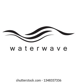 Water Wave Icon - Isolated On White Background. Vector Illustration Water Wave Icon, Graphic Design. For Logo, Websites, Print Material