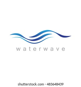 Water Wave Icon - Isolated On White Background. Vector Illustration, Graphic Design. For Web, Websites, Print Material