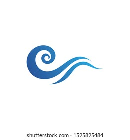 Water wave icon vector illustration design logo