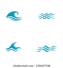 Water wave icon vector illustration design template