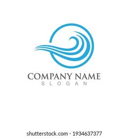 Water wave icon vector illustration design logo