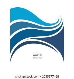 Water Wave Logo abstract design. Cosmetics Surf Sport Logotype concept. Aqua icon.