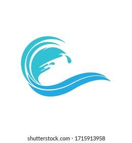 Water wave Logo design Template