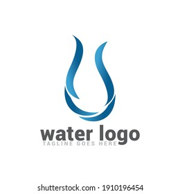 Water wave logo icon vector template.
