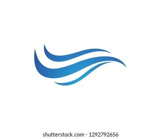 Water wave logo illustration - Vector
