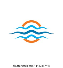 Water Wave Logo Template. vector Icon illustration design