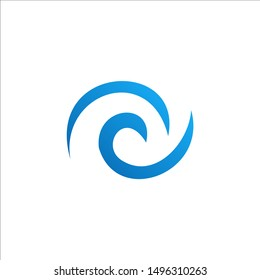 Water wave Logo Template. Wave Logo Vector