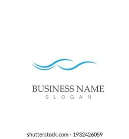 water wave logo vector illustration template design