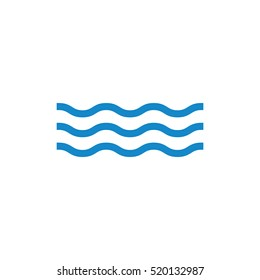 Water wave sign vector