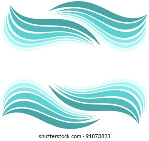 Water waves border. Vector illustration design