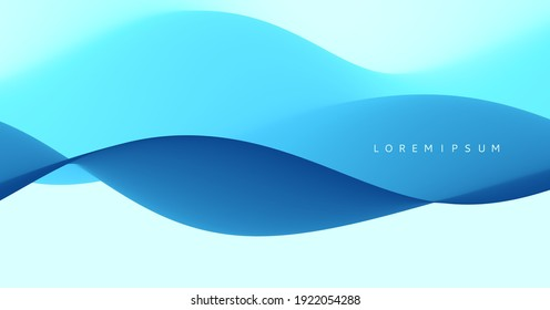 Water waves. Nature background. Trendy liquid design. Vector illustration for banners, flyers and presentation.