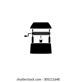 Water Well. Black simple vector icon