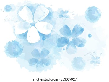 Watercolor abstract background. Flowers