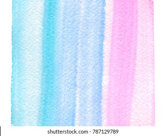 Watercolor abstract brush paint line streaks vector background for print, template. Colorful bright aquarelle wet paper texture hand drawn striped card for greeting, wallapaper, poster, banner