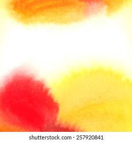 Watercolor abstract colorful textured background. Vector illustration