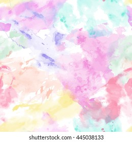 Watercolor abstract expressionism illustration on the white background. style of drip painting. Vector seamless pattern