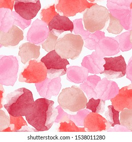 Watercolor abstract seamless pattern with abstract circles