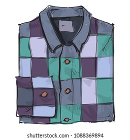 Watercolor accessory. Mens clothing. Vector.