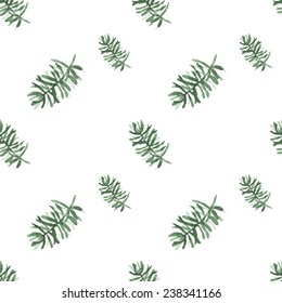 Watercolor background is a Christmas theme. Sprig of pine. vector texture