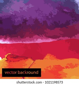 Watercolor background red violett