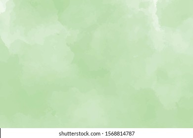 Watercolor Background. Template and texture for graphics. Green and mint colors. Pastel and delicate. Paint splash. Brush stroke. Copy free space.