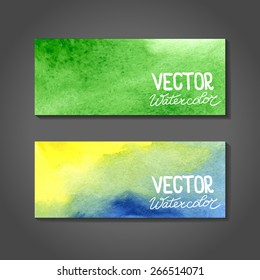 Watercolor banners. Abstract background with watercolor splash. EPS 8 vector