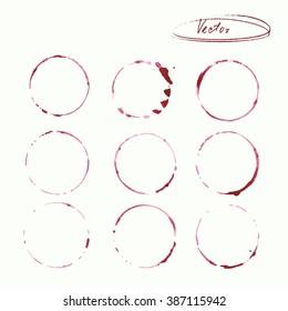 watercolor blots of wine vector