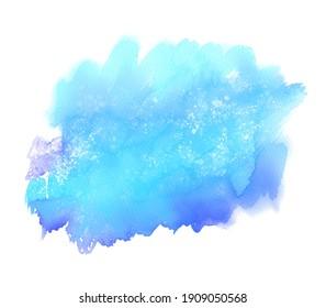 Watercolor blue colour drawing vector art background, oil splash, print. Abstract aqua liquid wallpaper, grunge card, paper texture graphic design, label, layout
